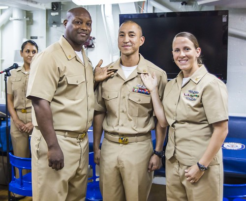 Stethem Promotes Four Sailors to Chief Petty Officer