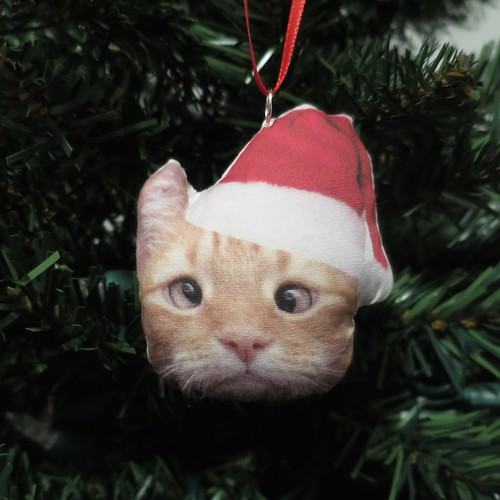 Iron Craft '14 Challenge #18 - Stuffed Cat Christmas Ornament