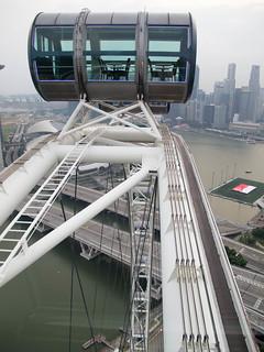 Uitzicht vanuit de Singapore Flyer