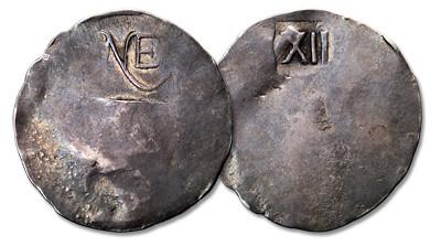 Undated (1652) NE Shilling. Noe II-A