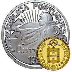 Portugal's Eccentric Bimetallic Coin obverse
