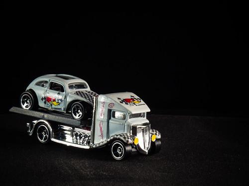Custom Fast Bed Hauler and Volkswagen Beetle
