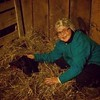Brie after a long night in the barn working with this sick calf. She had to #tuck her in. #angus #farming #lovemylife