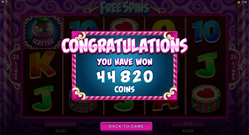 So Much Candy Bonus Feature Win