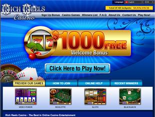 Rich Reels Casino Home