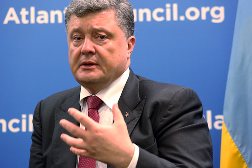 Ukraine President Petro Poroshenko at the Atlantic Council