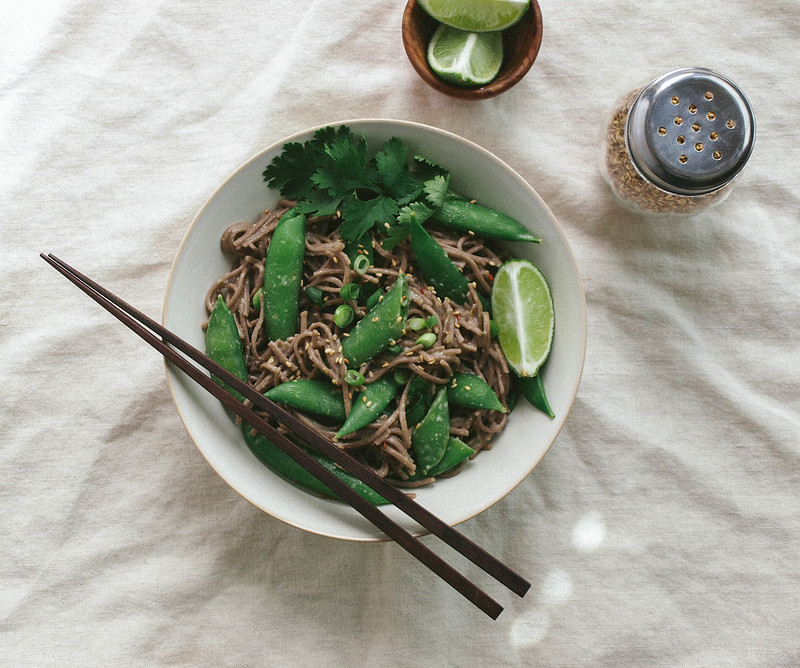 SUGAR SNAP PEA & SOBA NOODLE BOWL + MISO SAUCE - THE ...