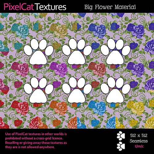PixelCat Textures - Big Flower Material
