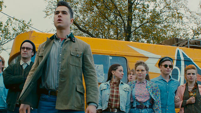 Ben Schnetzer leads a group of Londoner gays and lesbians in support of Welsh miners in PRIDE.