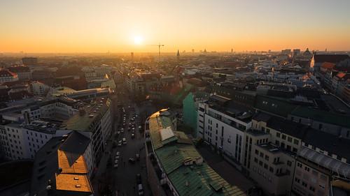 Munich Sunset from Toni Hoffmann
