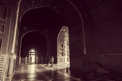 Inside the Mosque of Taj Mahal