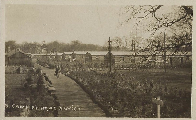 Alnwick Camp, Hospital, WWI, postcard