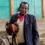 Man and his Rooster - Gondar Market, Ethiopia