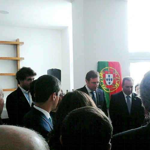 Portuguese Prime Minister Dr. Pedro Passos Coelho speaks at the opening of Boticas Hotel Art & Spa in Boticas, Chaves, Portugal