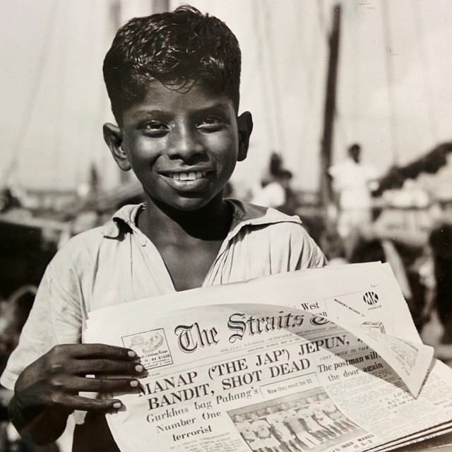 1952 newsboy Singapore