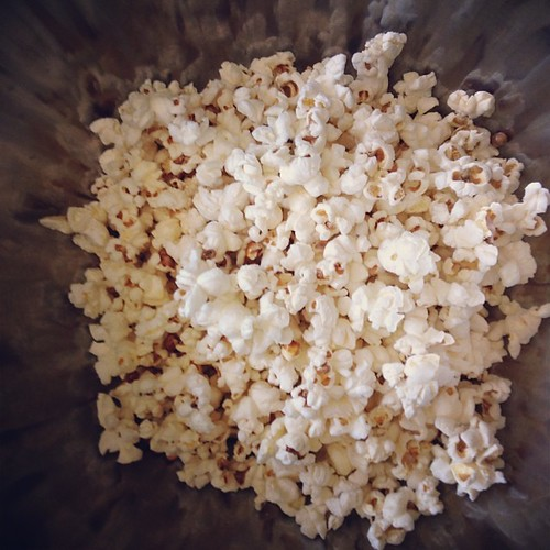 Finally got around to making coconut oil popcorn. It is easy and tasty! Now what toppings should I add?