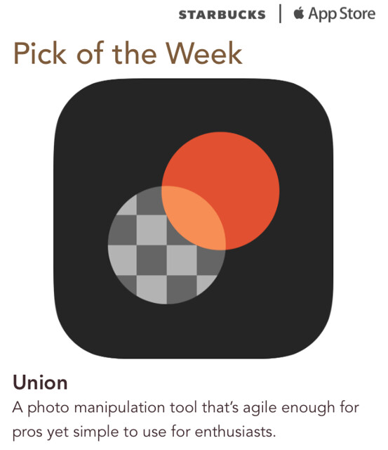 Starbucks iTunes Pick of the Week - Union