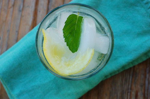 Lemon Balm Simple Syrup & Lemon  Spritzer by Eve Fox, The Garden of Eating, copyright 2014