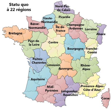14g19 Nouvel Obs Las 22 regiones metropolitanas Antes Reforma territorial