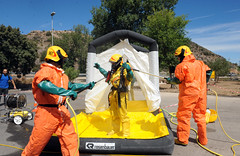 hazmat suit, firefighter,