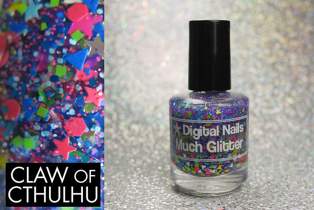 Digital Nails Much Glitter Bottle and Macro