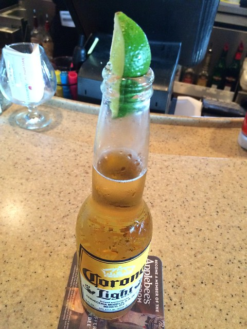 Corona light beer - Applebee's