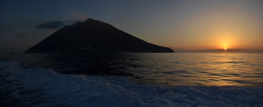 Stromboli Sunset Panorama