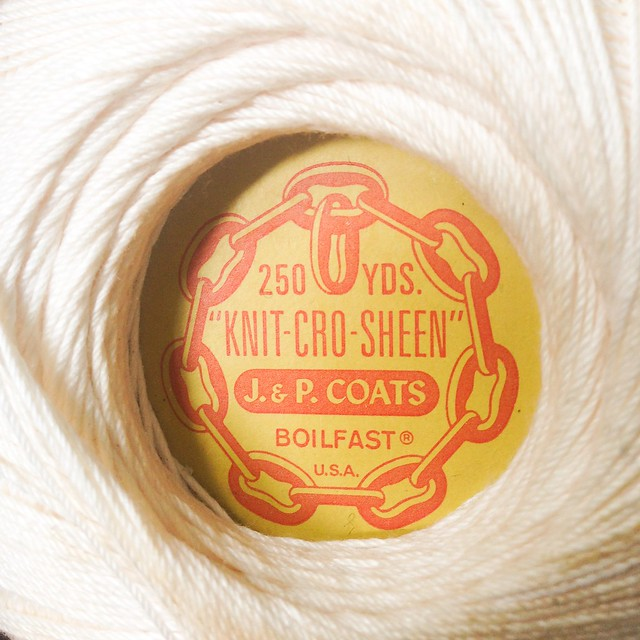 "J. & P. Coats ""Knit-cro-sheen"" 250 yds"