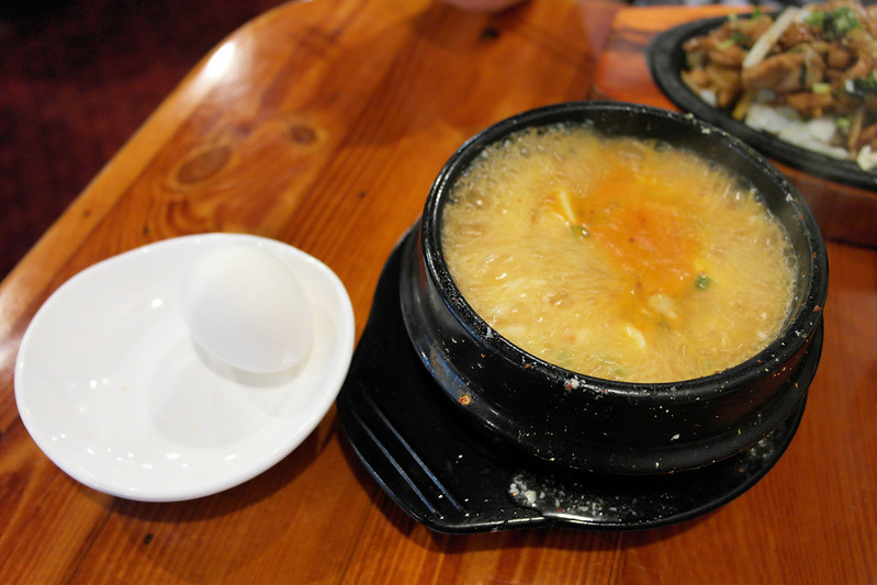 A Ri Rang Tofu HoA Ri Rang Tofu - Grilled Chicken Plateuse - Oyster Tofu Soup with Raw Egg