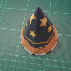 วิธีทำโมเดลกระดาษของเล่นคุกกี้รัน คุกกี้รสพ่อมด (Cookie Run Wizard Cookie Papercraft Model) 049