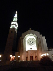 The Basilica of the National Shrine of the Immaculate Conception - night