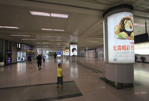 "An ""anti animal performance"" poster at Hangzhou Airport (1)"