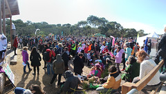 Crowd listening to speakers - Anglesea Coal Shut it Down Rally 10 Aug 2014