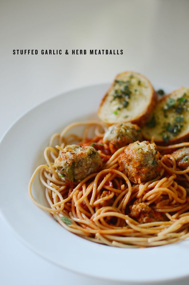 herb stuffed meatballs