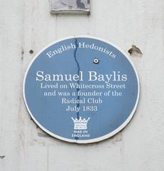 Photo of Samuel Baylis blue plaque