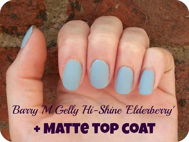 NOTD Barry M Gelly Hi Shine Elderberry + Matte Top Coat