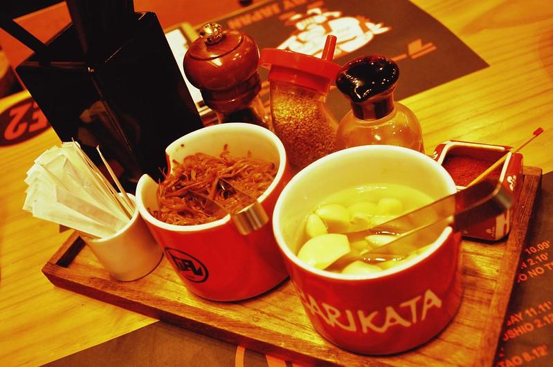 Ramen Nagi Condiments