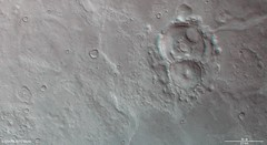Craters within the Hellas Basin in 3D