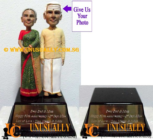 Unusually Creation Custom 3D Sweet Lovely Indian Couple Figurines - @www.unusually.com.sg