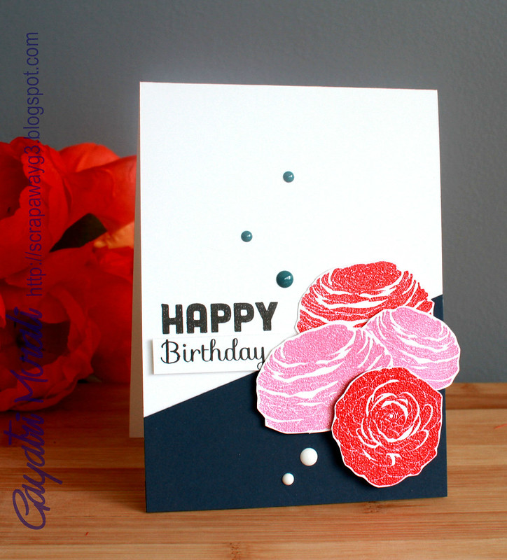 Flower birthday cardvertical