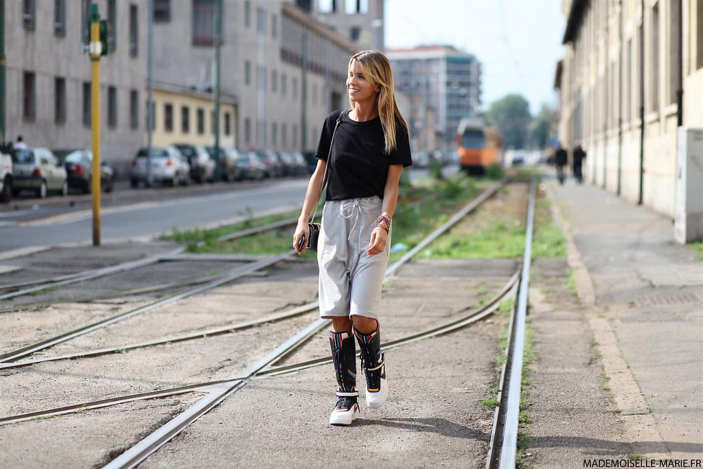 Carola Bernard Street style at Milan Fashion Menswear day 2