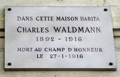 Photo of Charles Waldmann marble plaque