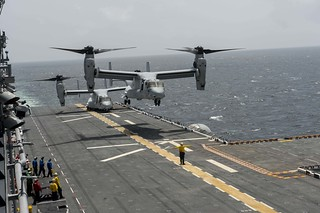 USS America conducts flight operations.
