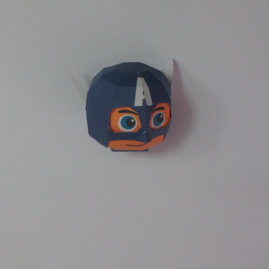 วิธีทำของเล่นโมเดลกระดาษกับตันอเมริกา (Chibi Captain America Papercraft Model) 007