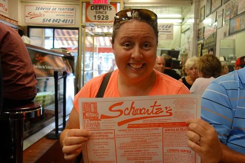 Claire at Schwartz's