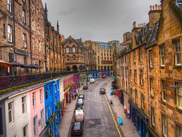 Виктория-стрит в Эдинбурге loverme