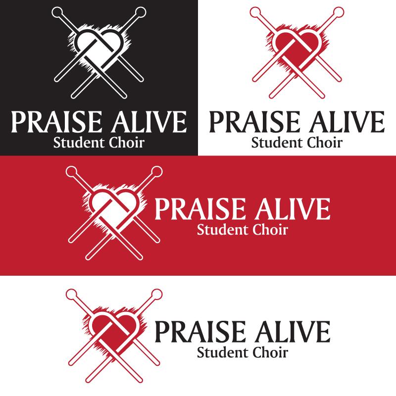 PRAISE ALIVE Student Choir logóterv