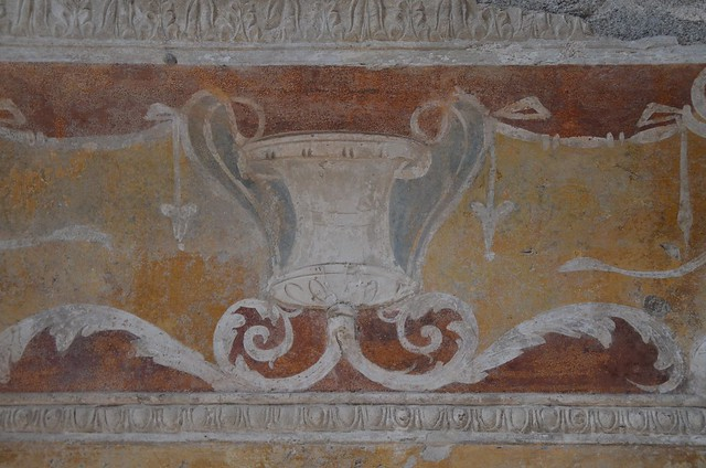 Forum Baths, decorative wall stucco in the apodyterium, Pompeii