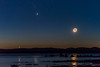 Crescent Moon, Jupiter and Venus