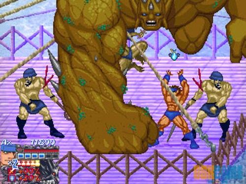 Golden Axe Myth gigantescos enemigos